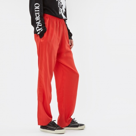Silk Track Pant - Red