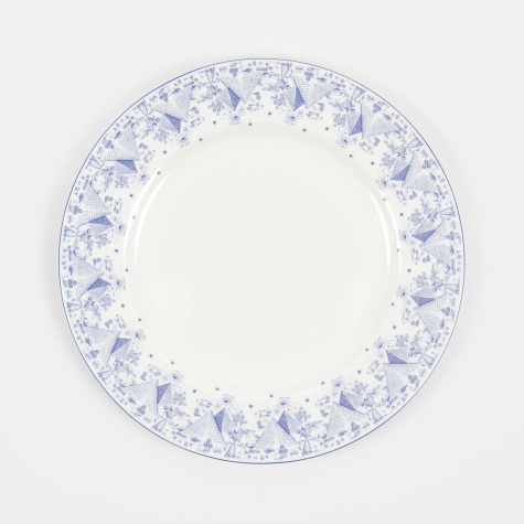 Pyramid Plate - White/Blue