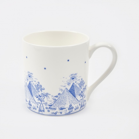 Pyramid Mug - White/Blue