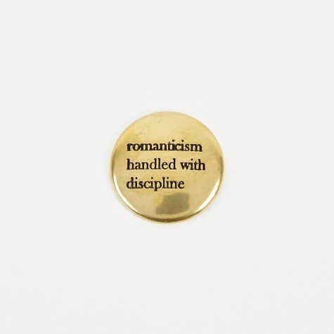 UCS4X03 Romanticism Pin Badge - Gold