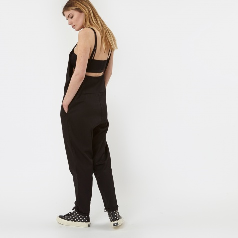 Long Strap Canvas Overall - Black