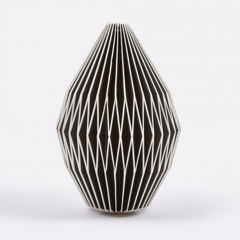 Lampshade Design No.8 - Black / White Edges