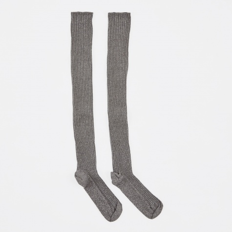 Over Knee Socks - Grey Melange