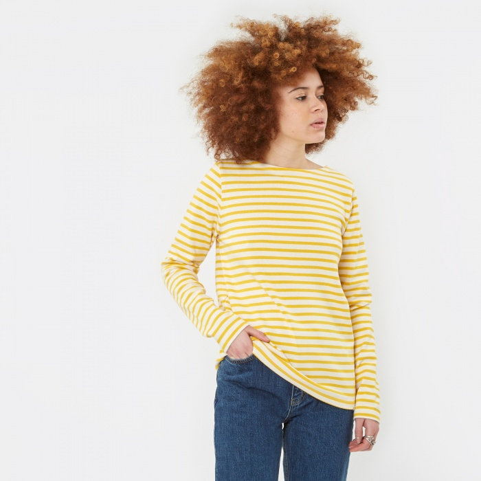Norse Projects Inge Classic Stripe Sweatshirt - Summer Yellow (Image 1)