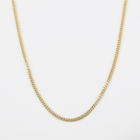 18 Filed Curb Chain - 9k Yellow Gold
