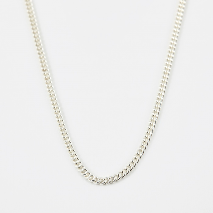 Goods By Goodhood 24 Filed Curb Chain - Silver (Image 1)