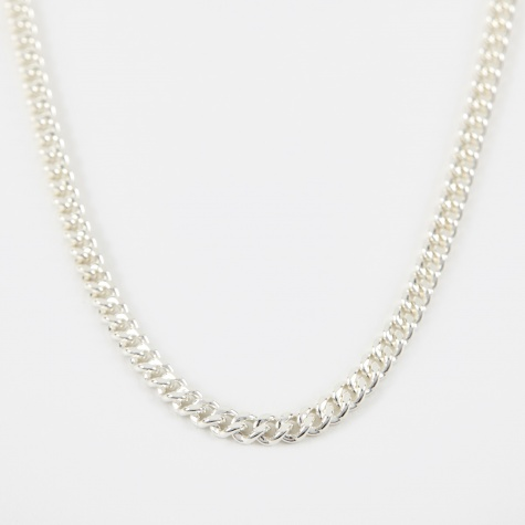40 Filed Curb Chain - Silver