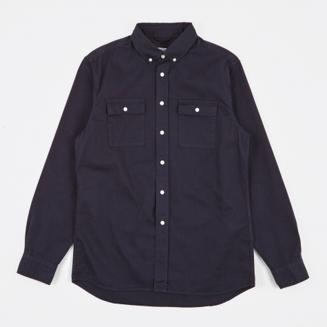 Angus Broken Twill Shirt - Midnight