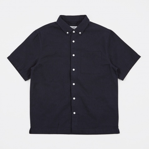 Bruce Dobby S/S Shirt - Midnight