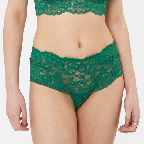 Cherry Lace Brief - Verdant Green