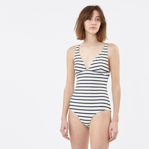 Eden Swimsuit - Vanilla/Total Eclipse Stripe