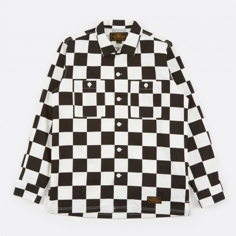 Checker Shirt LS - Black