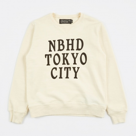Slub Crewneck Sweatshirt - Natural
