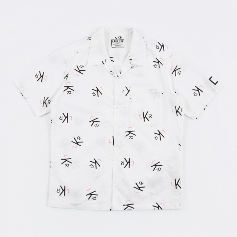 Luker by Neighborhood LKR Pattern SS Shirt - White