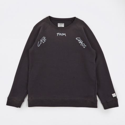 Luker by Neighborhood Sloppy Crew LS - Charcoal
