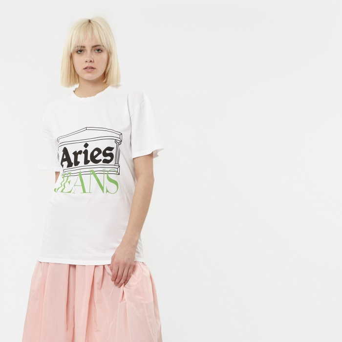 Aries Jeans S/S T-Shirt - White (Image 1)