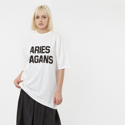 Pagans S/S T-Shirt Dress - White