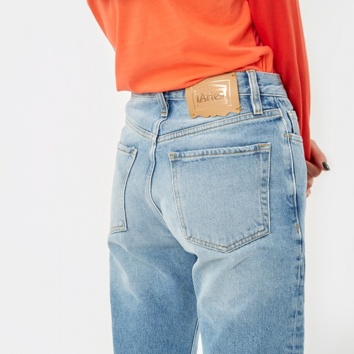 Aries Strip Jean - Light Wash (Image 1)