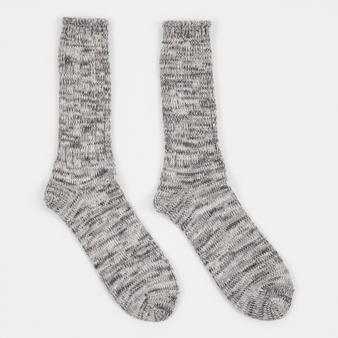 5 Colour Mix Crew Sock - Grey