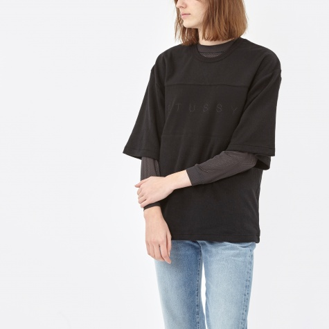 Burbank Reverse Crewneck Jumper - Black