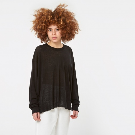 Cashmere Oversized Knit Pullover Jumper - Black