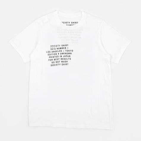 Number 1 Pocket T-Shirt - White