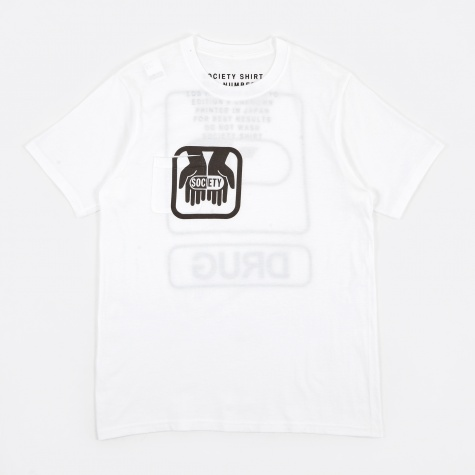 Drugs Pocket T-Shirt - White