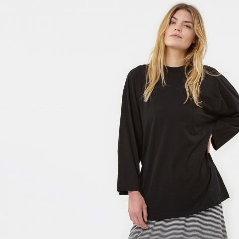 Pocket L/S T-Shirt - Caviar