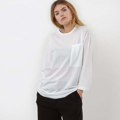 Pocket L/S T-Shirt - White