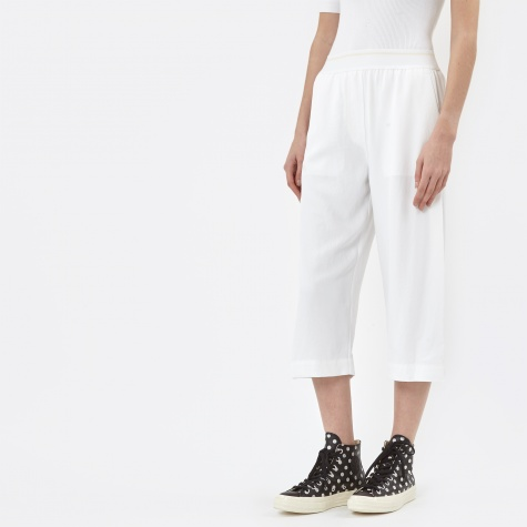 Pull On Crop Pant - White