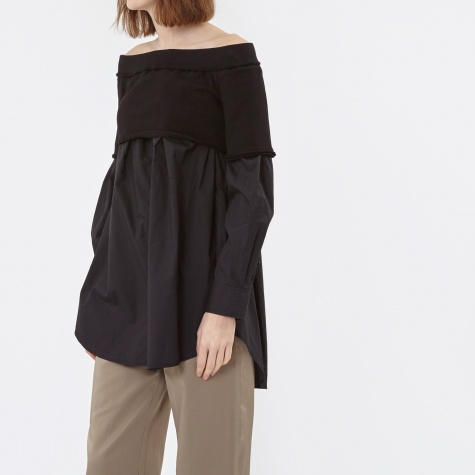 Xtra L/S Off Shoulder Top - Black