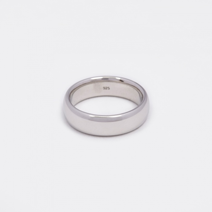 Tom Wood Classic Large Band Ring - Polished Silver (Image 1)