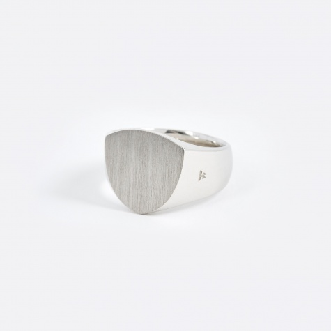 Satin Shield Ring - Silver