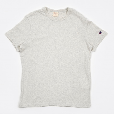 Reverse Weave Crew Neck T-Shirt - Light Grey