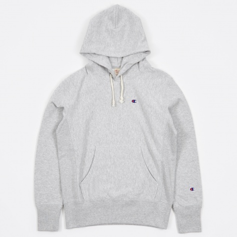 Reverse Weave Hooded Sweatshirt - Grey