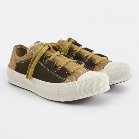 Asymmetric Ghillie Sneaker - Brown