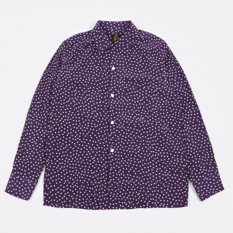 Cut-Off Bottom One-Up Shirt Polka Dot - Purple