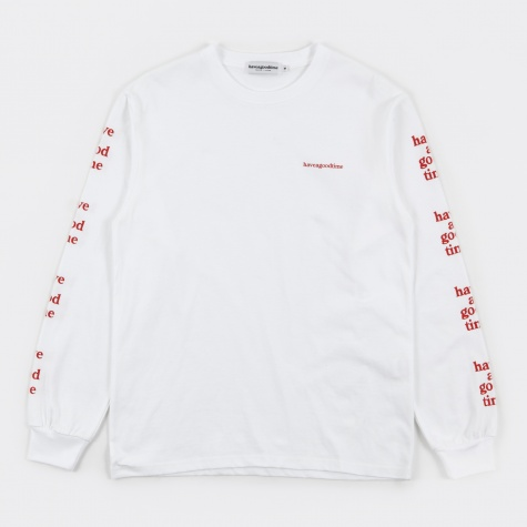 Arm Side Logo L/S Tee - White