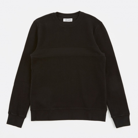 Tres Bien Reversed Loopback Sweater - Black Overdye