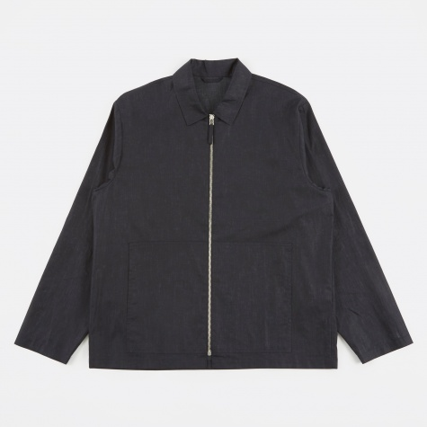 Tres Bien Zip Blouson Shirt - Dark Blue