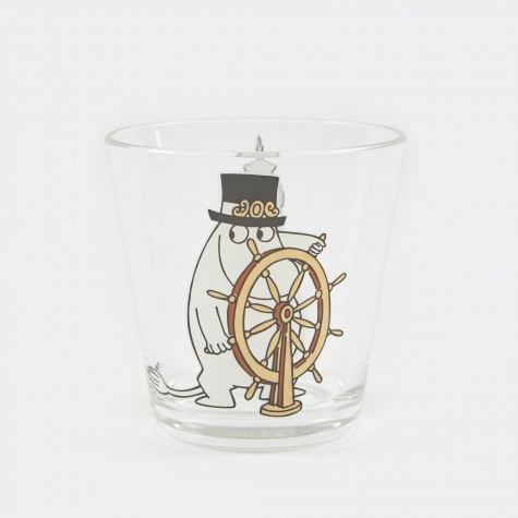 Arabia Moomin Glass 21cl - Moominpappa At Helm