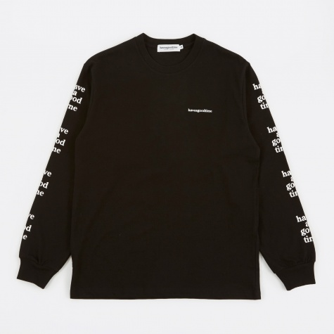 Arm Side Logo L/S T-Shirt - Black