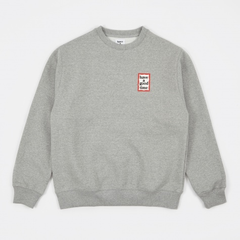 Mini Frame Crew Neck - Heather Grey