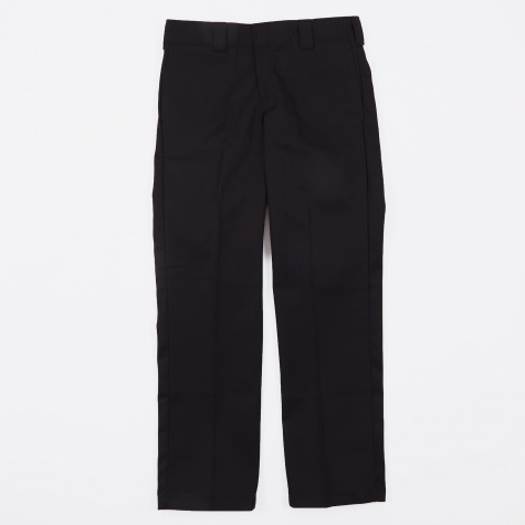 Slim Straight Work Trousers - Black