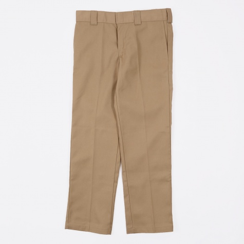 Slim Straight Work Trousers - Khaki