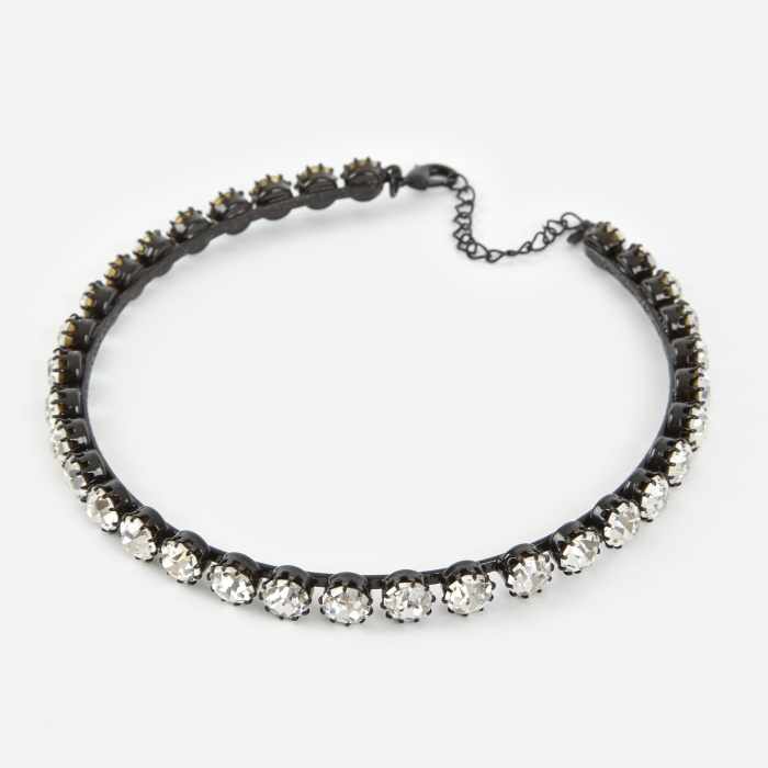Ashley Williams Clear Choker - Silver (Image 1)
