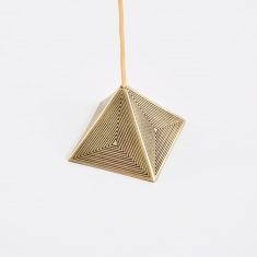 M A A P S Pyramid Incense Holder - Brass