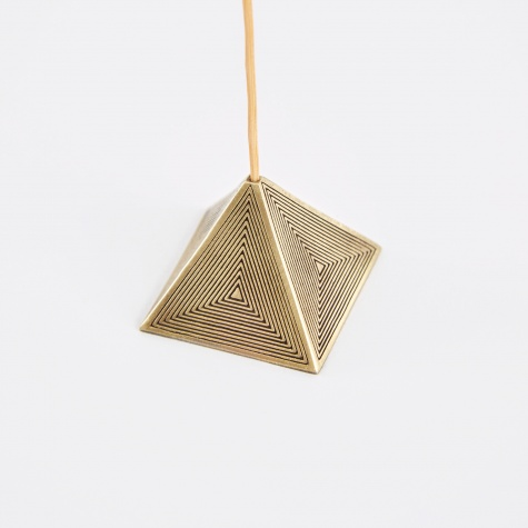 Pyramid Incense Holder - Brass