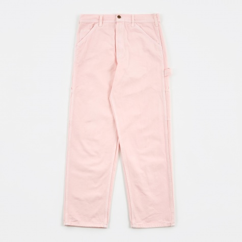 Single Front Painter Trousers - Pink Rose Overdye
