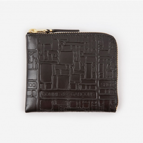 Comme des Garcons Wallet Embossed Logotype S - Black (SA3100EL)